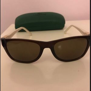 White and brown Lacoste sunglasses